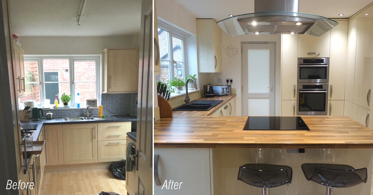 Alabaster Gloss kitchen in Peterborough