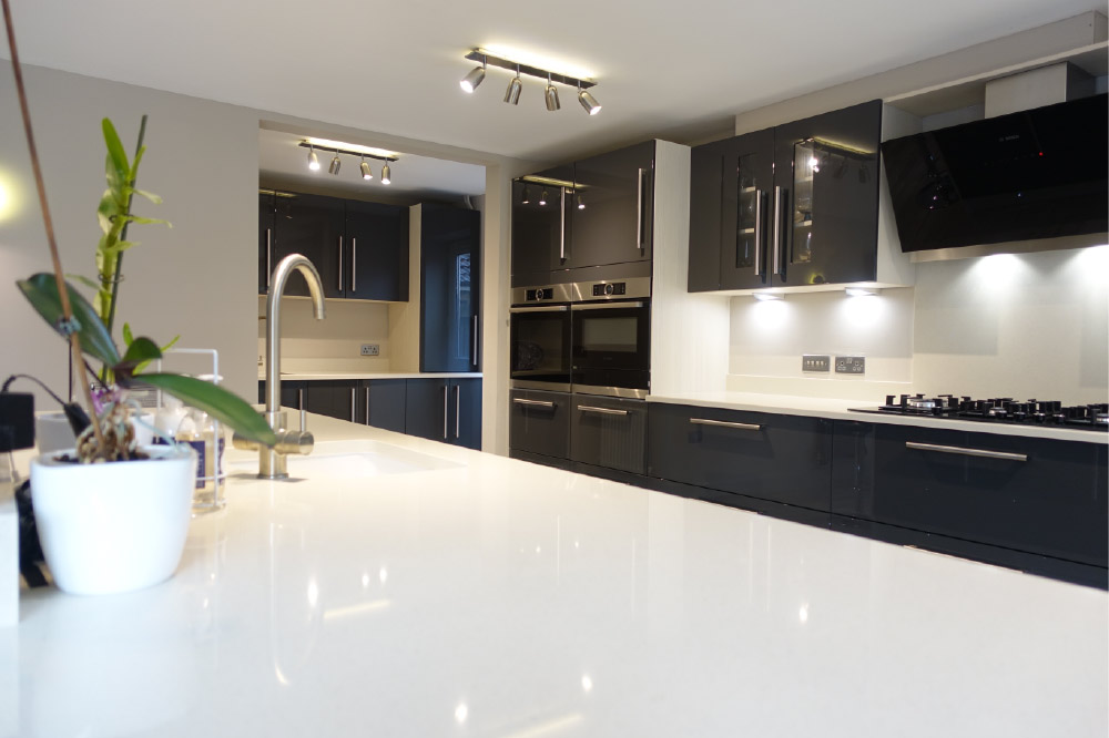 Contemporary Gloss Grey Kitchen Design From Premier Kitchens - Glossy grey kitchen