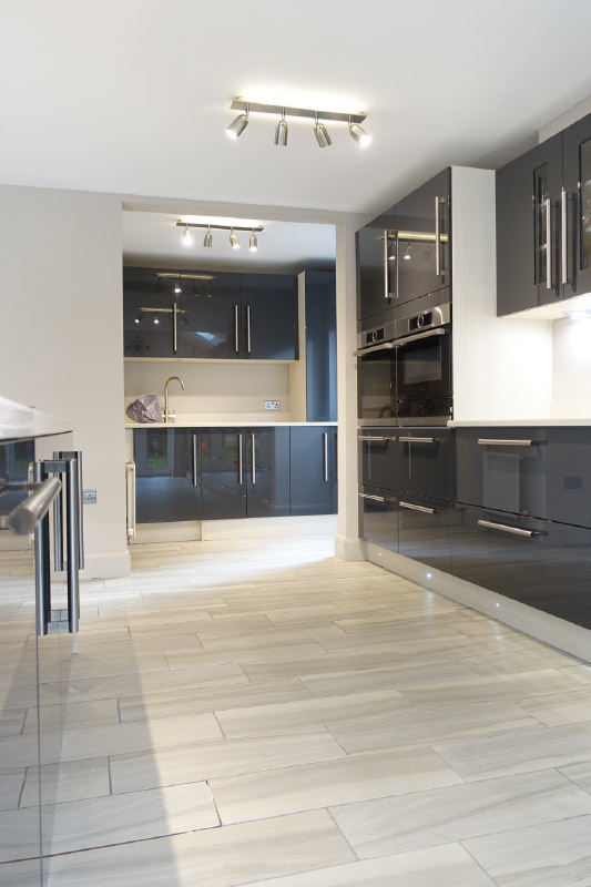 Gloss Grey Kitchen From Premier Kitchens Gloss Grey Kitchen From Premier  Kitchens ...