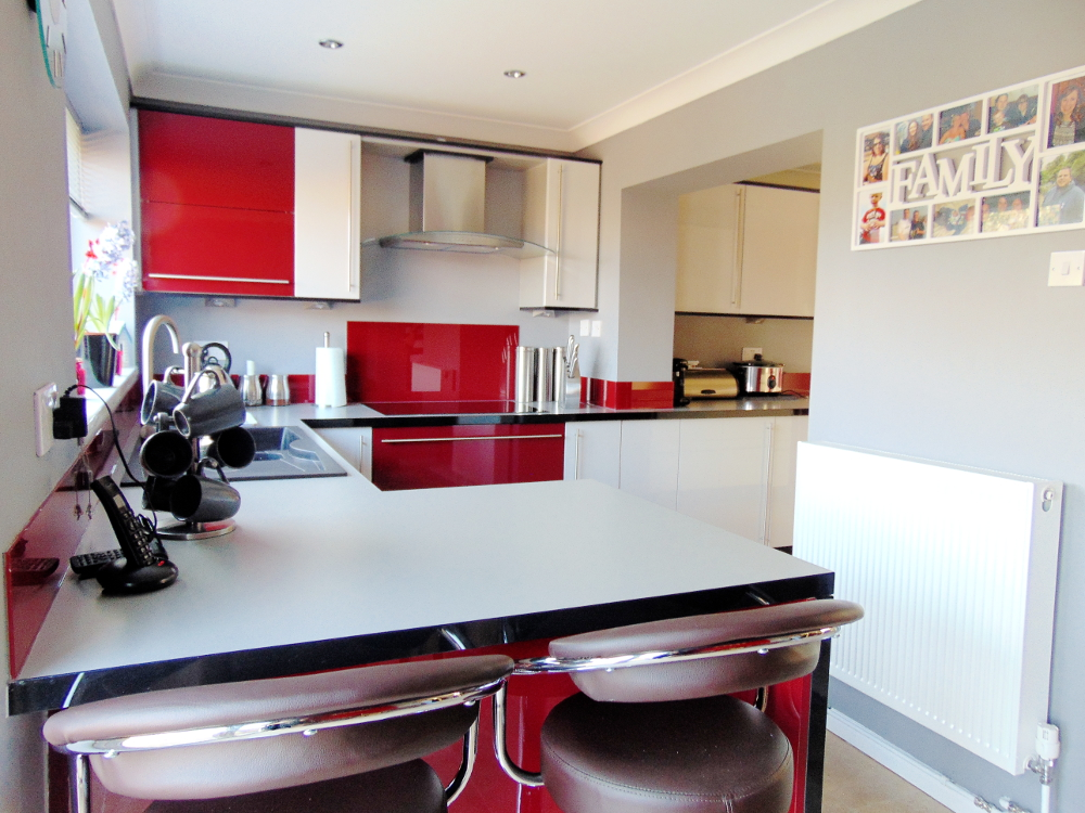 exciting red kitchen decor | 3 Red Kitchens, 3 Different Ways all from Premier Kitchens ...