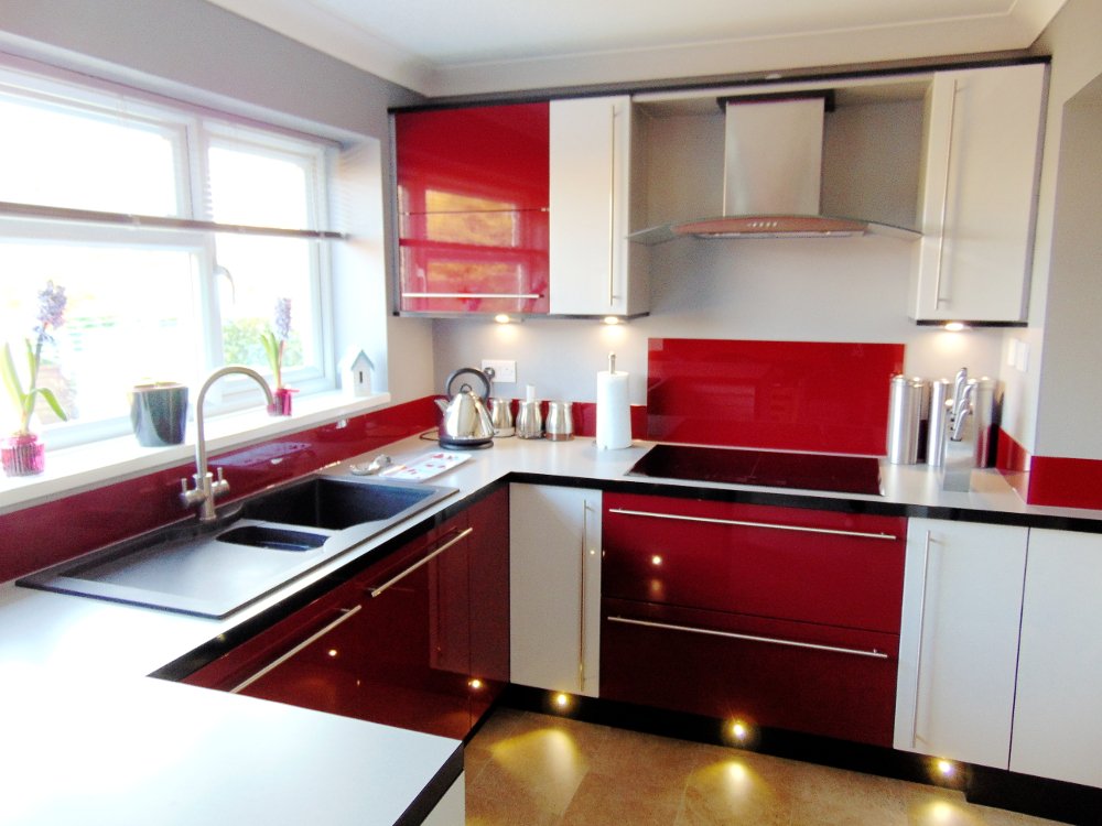 red kitchen with white cabinets 3 kitchens 3 different ways all from premier kitchens 25185