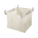 Laundry basket with wire frame for pull out frame - silver - 805.82.210