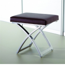 Bedroom Stool - Chocolate Faux Leather - MST1CH