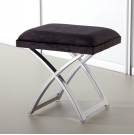 Bedroom Stool - Black Faux Leather - MST1BL