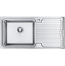 Artemis 1.0 Bowl Sink Left Hand Brushed Steel - PKS1116LH