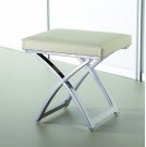 Bedroom Stool - Ivory Faux Leather - MST1IV