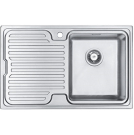 Artemis Compact Sink Right Hand Brushed Steel - PKS1115RH